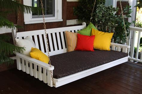 Patio Swing That Turns Into Bed Pine Traditional Swing Bed By Dutchcrafters Amish