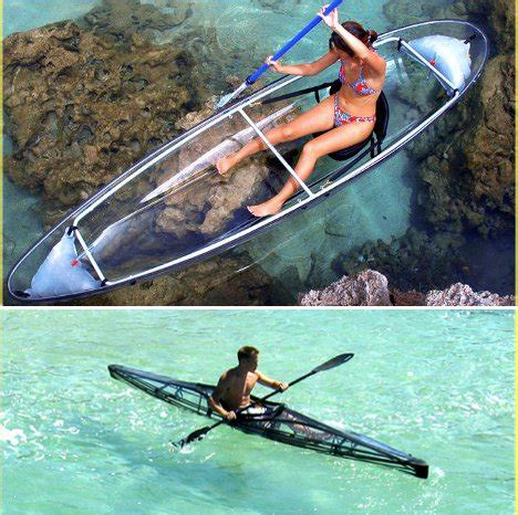 canoes or kayaks clear sailing cleverly transparent canoes kayaks urbanist