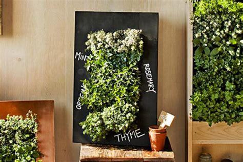 chalkboard wall planters  vertical garden designs