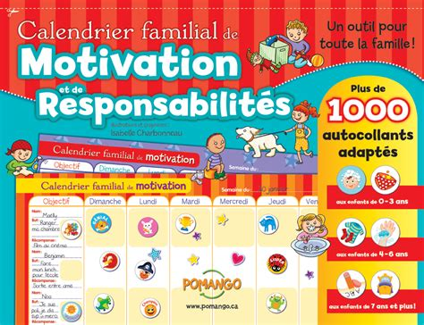 Calendrier Garneau 2017 Calendrier Planificateur Familial Et Motivation
