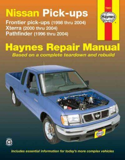 automotive repair manual 2003 nissan xterra auto manual nissan frontier xterra pathfinder 1996 2004 haynes service repair manual sagin workshop car