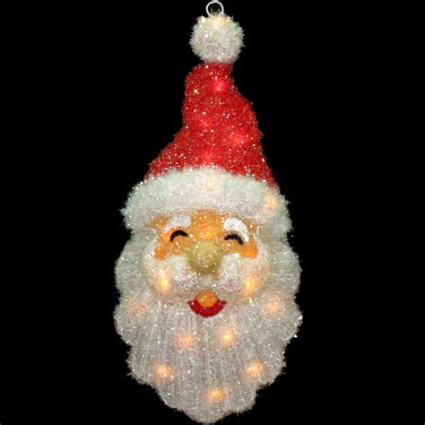 light up santa claus 60cm light up tinsel santa claus head wall christmas