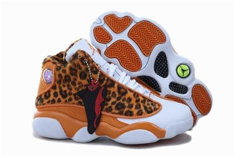 basketball shoes for 8 year olds air 13 cheetah leopard print orange white