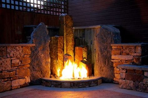 Fireplace Features by Luxescapes Landscape Design And Installation Contractor