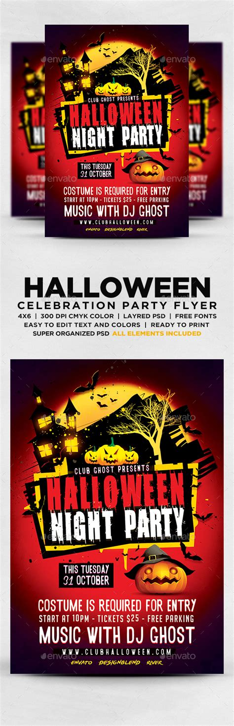 Halloween Carnival Kids Flyer 187 Tinkytyler Org Stock Photos Graphics Graphicriver Iii Flyer Template