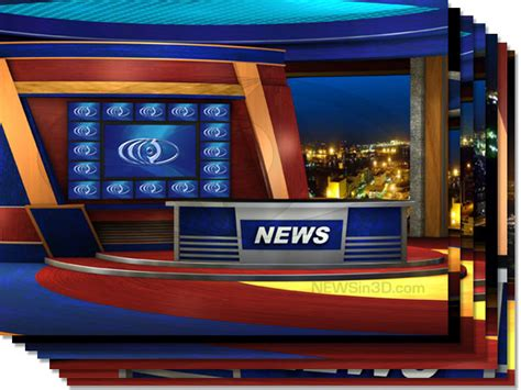 news room background multi monitor news set w transparent windows sd