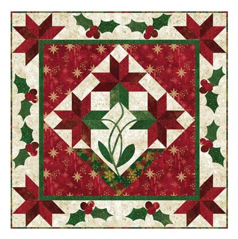 Poinsettia Quilt Block Pattern by Poinsettia Medallion Quilt Pattern