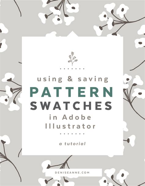 adobe illustrator pattern templates using and saving pattern swatches in adobe illustrator