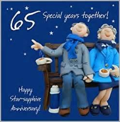 65th wedding anniversary card amazon co uk kitchen amp home
