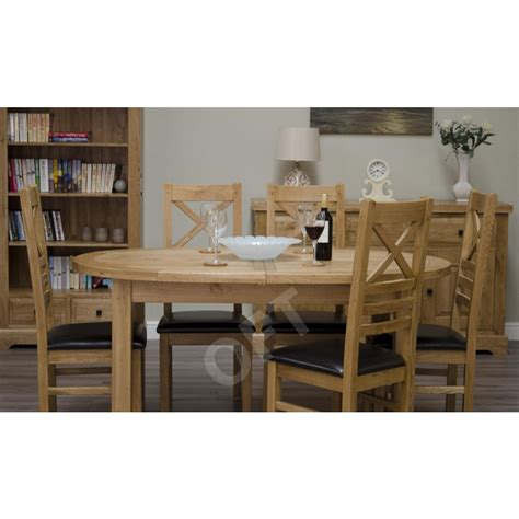 Oval Oak Dining Table And Chairs Montero Oval Extending Dining Table And Six Chairs Set Solid Oak Furniture