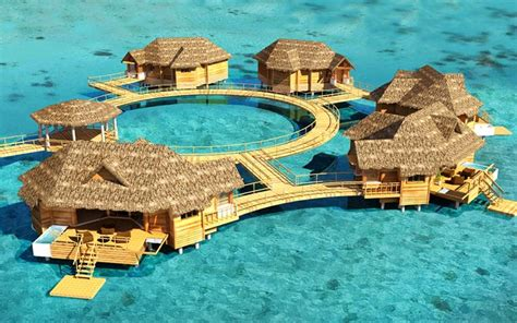 the water bungalows all inclusive sandals beaches bon voyage by barbour the travel