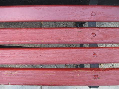 Garden Bench Stone Red Paint Wood Park Bench Reference Grunge Texture For Me