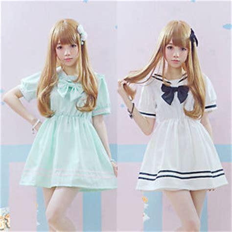 Bow Sailor Collar Sleeve Top kawaii sailor collar dress bow mini skirt navy