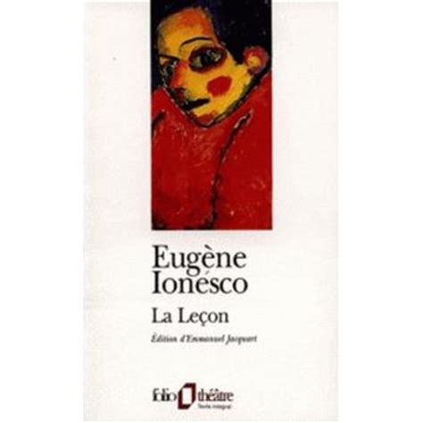 la lecon folio theatre 2070388654 la le 231 on broch 233 eug 232 ne ionesco emmanuel jacquart