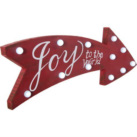 joy light up sign 16 quot joy light up marquee arrow sign hh65325j