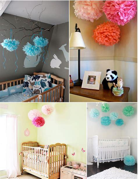 como eu mesma decorar o quarto do bebe vivendo e aprendendo arte quot pompons de papel de seda quot