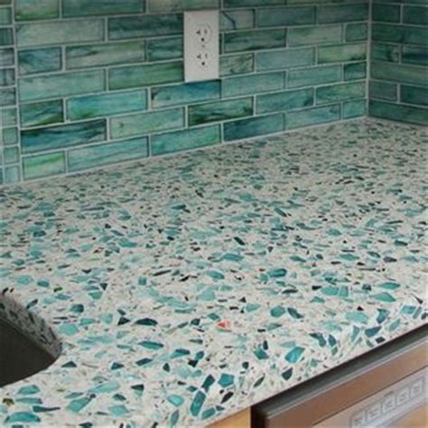 Sea Glass Kitchen Countertops by 25 Best Ideas About Recycled Glass Countertops On