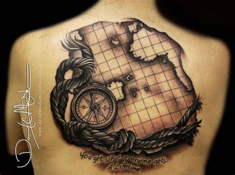 compass tattoo lounge beautiful world map tattoo done by david mushaney artist