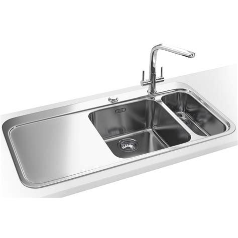 Franke Stainless Sinks by Franke Sinos Dp Snx 261 1 5 Bowl Stainless Steel Sink And