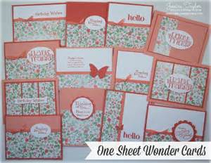 gold soiree one sheet wonder cards ink it up with
