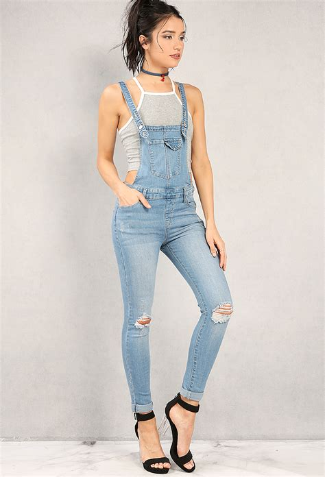 Overall Jean by Distressed Denim Overalls Shop At Papaya