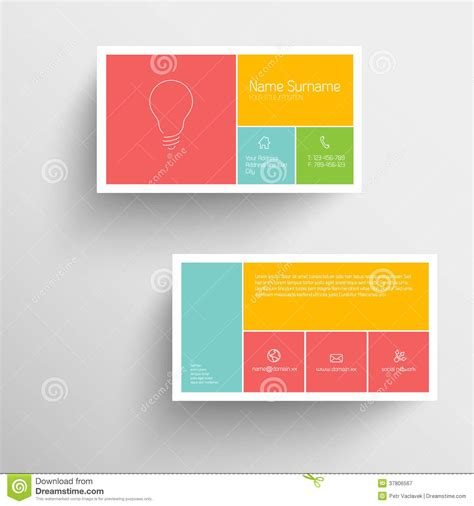 free flat card templates modern business card template with flat mobile user