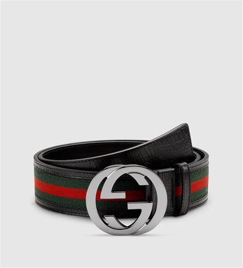 gucci signature web belt with interlocking g buckle in lyst