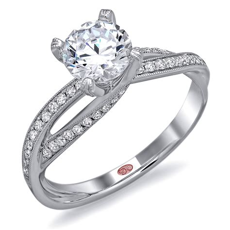unique white gold wedding rings for unique personality