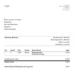 Muster Rechnungsvorlagen Vorlagen Muster F 252 R Rechnungen Kleingewerbe Rechnung