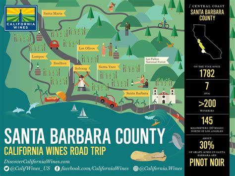 santa barbara map explore santa barbara on a california wines road trip california wines