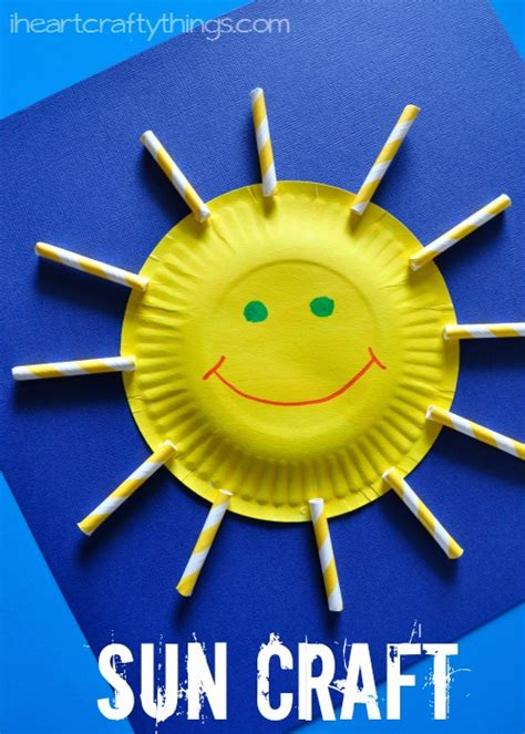 Sun Paper Plate Craft - i crafty things paper plate sun craft for