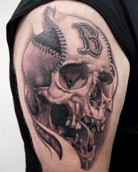 baseball tattoos 50 sporty baseball designs for the of the
