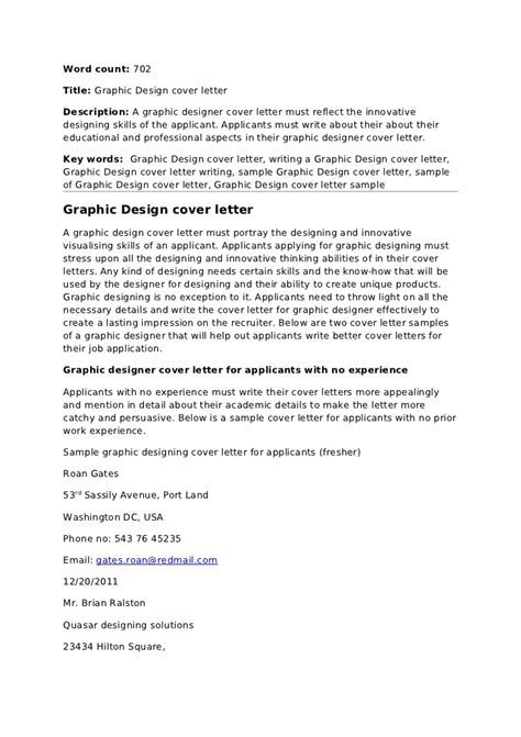 graphic design cover letter sles graphc design cover letter