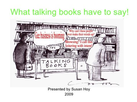 what would say books what talking books to say
