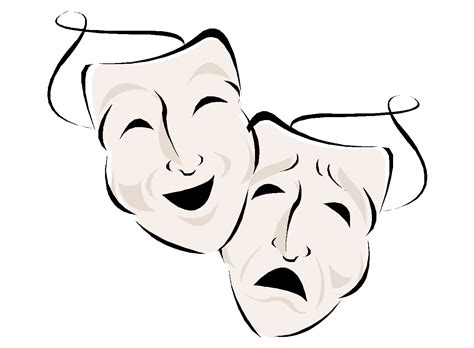 traditional drama masks how to draw drama masks clipart best clipart best