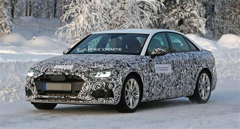 audi  sedan spotted rocking redesigned front
