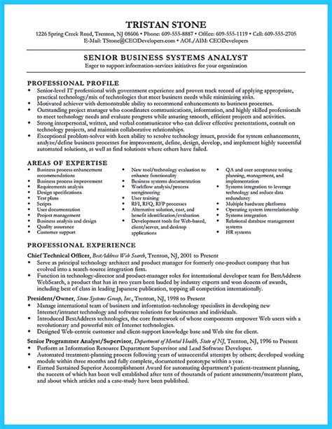 sle resume for and craft cover letter sle system analyst jennies wealth