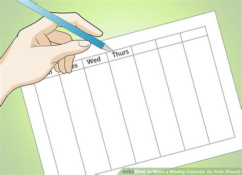how to make a weekly calendar how to make a weekly calendar for visual 6 steps
