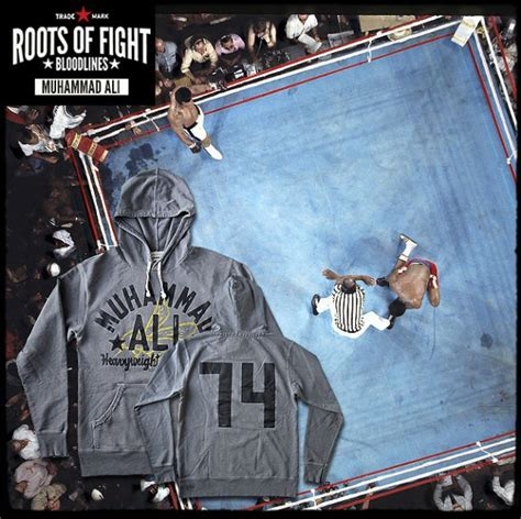 Muhammad Ali Back To His Roots by Roots Of Fight Ali Bee 74 Terry Hoodie