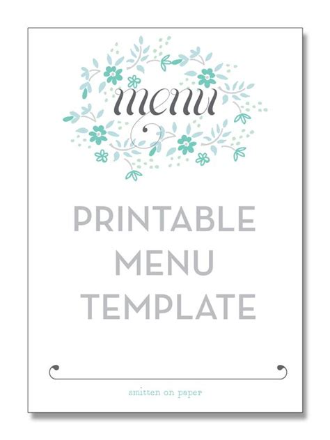 birthday menu template printable menu template from smitten on paper diy
