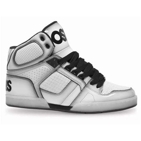 osiris shoes high tops osiris shoes nyc 83 white black hi top trainers shoes