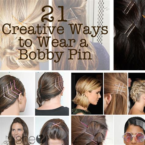 12 simple ways to wear bobby pins ma nouvelle mode 21 creative ways to wear a bobby pin how does she