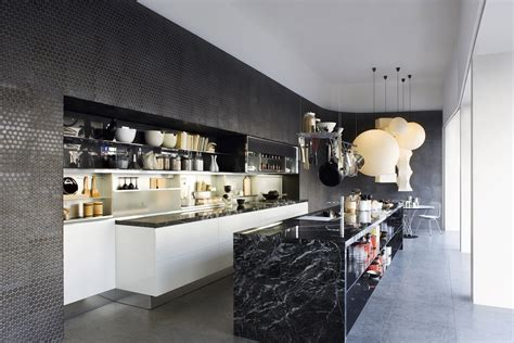 Black Kitchen Designs Black Marble Kitchen Island Design Olpos Design