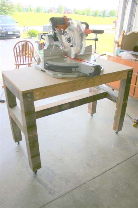 saw work bench ana white easy inexpensive and super strong movable