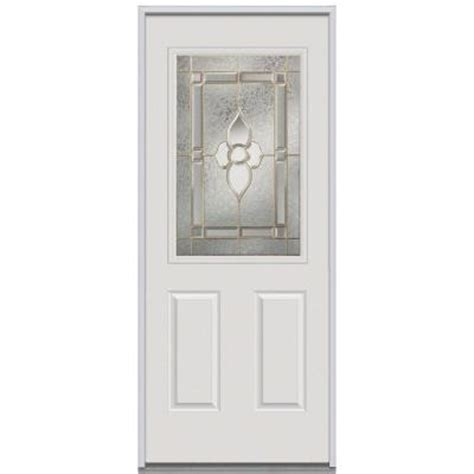 Decorative Replacement Glass For Front Door by Milliken Millwork 32 In X 80 In Master Nouveau