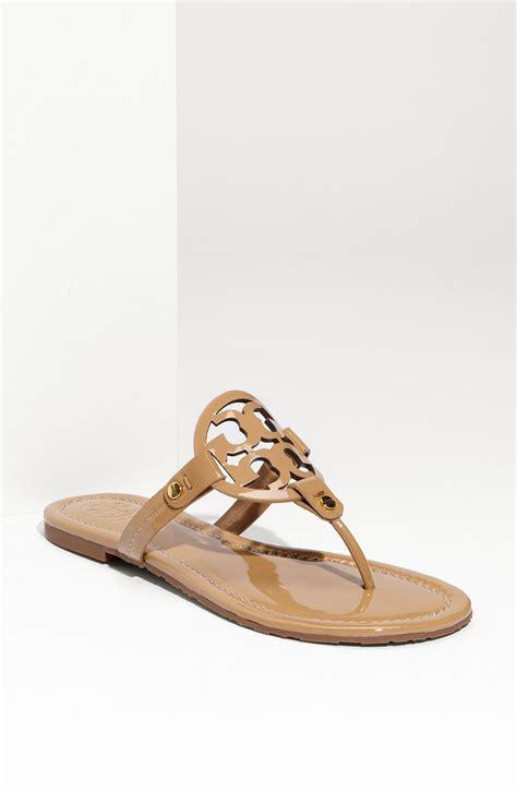 torey burch sandals burch miller logo leather sandals womenshoes