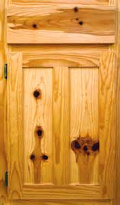 Knotty Pine Kitchen Cabinet Doors by Timber Country Cabinetry Flat Panel Door Style