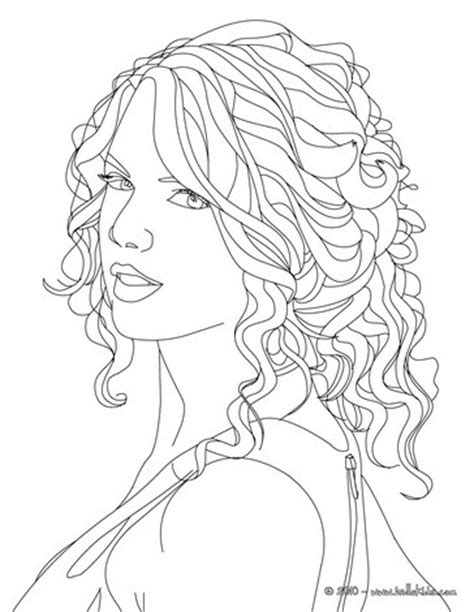 coloring pages country music taylor swift face close up