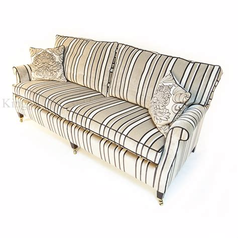 striped velvet sofa duresta sasha large sofa in stripe cream and beige velvet