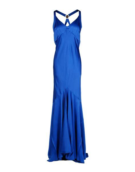 So Longdress Versace versace dress in blue lyst